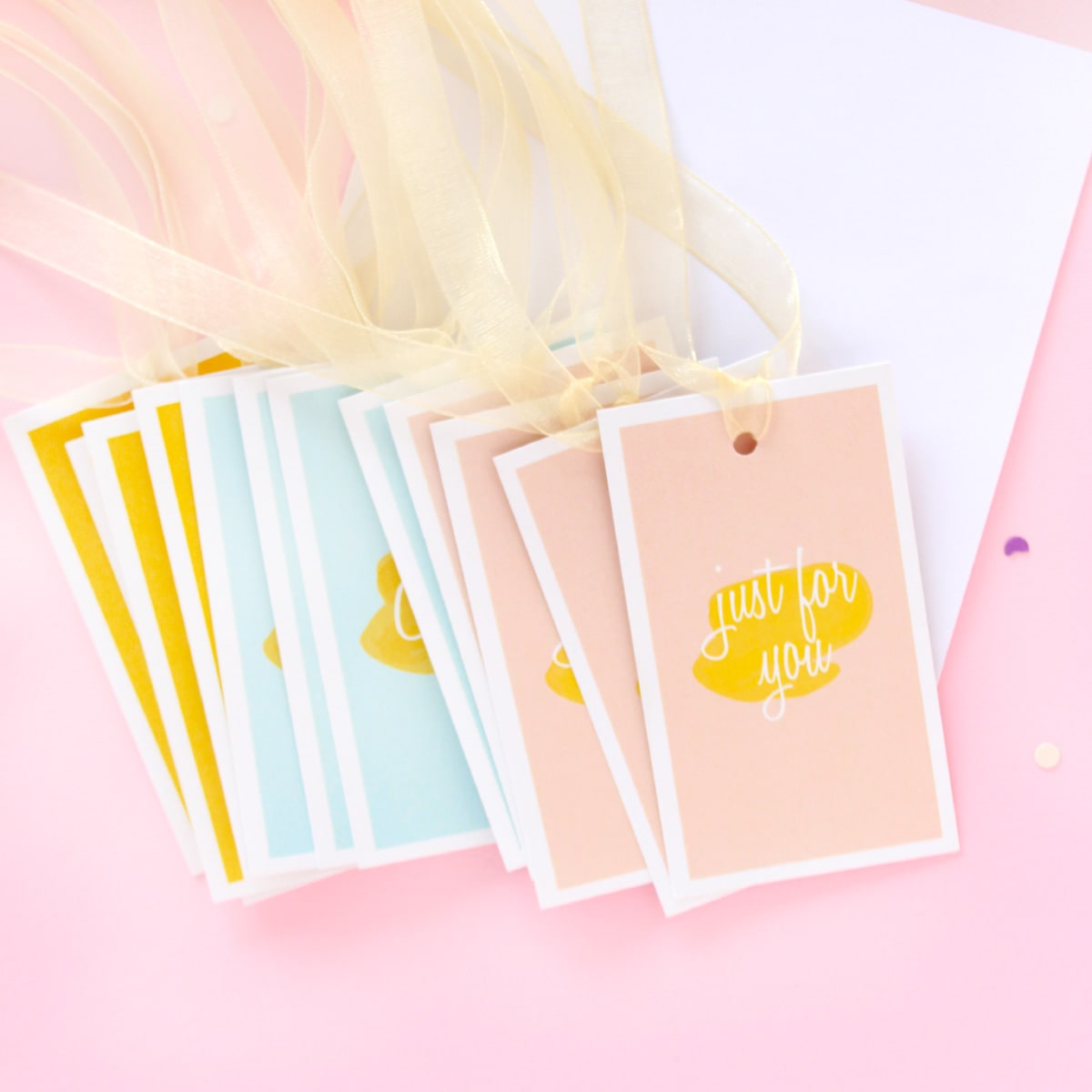 Pastel Set Of 12 Gift Tags